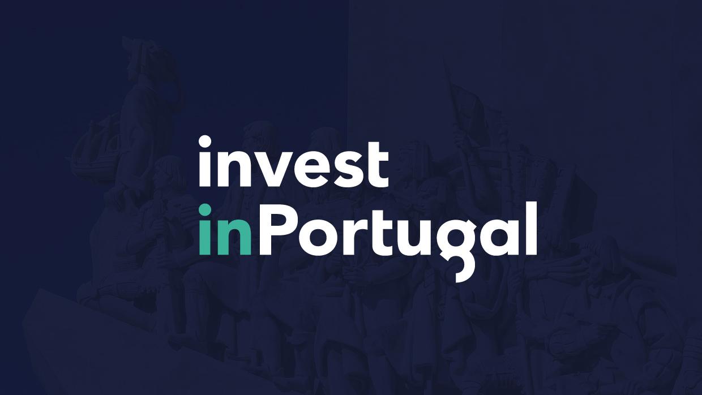 logo invest in portugal em fundo escuro
