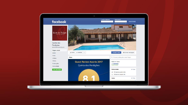 facebook desktop of quinta dos perdigões